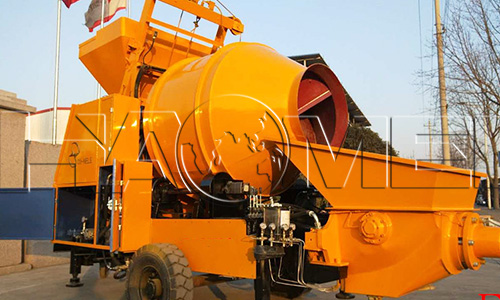 mobile batching plant with concrete pump 2